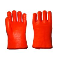 3 Layers Liner PVC Coated Work Gloves , Thermal Waterproof Gloves Smooth Finished Manufactures