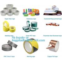 China super clear tape stationery tape,green pet tape,polymide heat resistant tape,pvc duct tape,warning tape,copper foil tape on sale