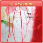 Red Ring Spun Nylon Fur Yarns For Sweater Hand Knitting / Polyester Knitting Yarn Manufactures