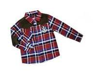 Custom Red / Blue Casual Cotton Kids Plaid t shirts,  fromal shirts For 3 - 14 year Manufactures