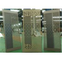 Aluminum Stretched Perforated Exterior Decorative Panels For Supermarket / Subway Manufactures