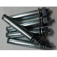 High Standard Expansion Anchor Bolt Carbon Steel With Coarse / Fine Pitch Manufactures