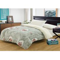 Printed Flannel Winter Comforter Sets Border In Straight / Square Or Oblong Manufactures