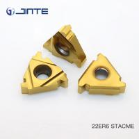 Cemented Carbide Indexable Threading Inserts , Thread Turning Tools 22ER6 STACME Manufactures