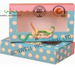 UV Coating Paper Egg Tart Take Away Food Packaging Boxes Gold Stamping Manufactures