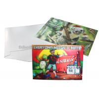 CMYK Merry Christmas Lenticular Printing Services Greeting Card Heat Resistant Manufactures
