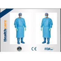 Red / Green Disposable Surgical Gowns Against Liquid Biodegradable Elastic Cuff 16-80gsm