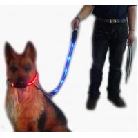 Red Silknet LED Flashing Nylon Dog Harness Manufactures