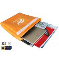 "Non Itchy Fireproof Document Bag 1523 ℉ Envelope Pouch 11""x15""x2"" Orange Manufactures"