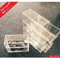 Custom Sunglass Box Retainer 3 Tier Clear Rectangle Laser Engraving Manufactures