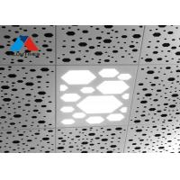 Rhomboid Punching Transparent Aluminum Drop Ceiling Tiles / Aluminum Clip In Ceiling Board Manufactures