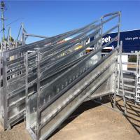 Galvanized  Adjustable Loading Ramp Galvanised Steel Material For Livestock Manufactures