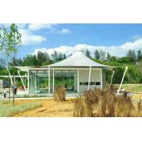 Luxury Resort Vacation Resort Canopy Large Camp Tent Hotel With Lining / Floor Manufactures