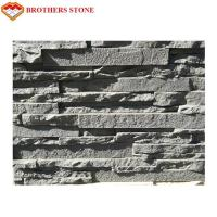China Dark Gray Slate Cultured Stone Wall Panel For Exterior And Interior Wall Decoration on sale