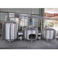 5Hl Semi-Automatic Mini Industrial Beer Brewing Equipment Flat Bottom Manufactures