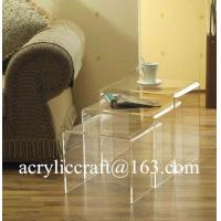 New transparent n shap acrylic furniture plexiglass coffee table Manufactures