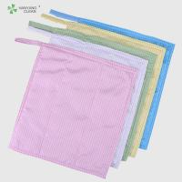 Polyester fiber and conductive fiber 3 layers microfiber cleaning cloth Manufactures