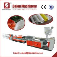 PVC PE PP corrugated pipeline machinery with perforate diameters till 250 Manufactures