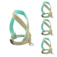 China Custom Firm Padded Dog Harness And Leash Adjustable Step In No Pull Velvet Soft Hemp on sale