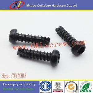 China Case Hardend Black Galvanized Steel Torx Pan Head Thread Cutting Screws for Plastic on sale