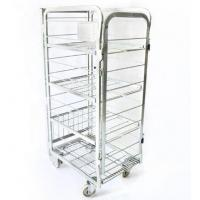 Supermarket Steel Milk Roll Cage Container Four Layers With Movable Shelf