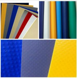 Side Curtain PVC Tarpaulin Fabric PVC Tarp With Eyes , High Tensile PVC Sheet Manufactures