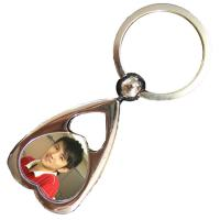 Heart Shaped Personalized Metal Keychains Custom Crafts Souvenir Gift Manufactures