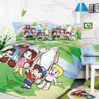 Baby Bedding Set, Made of 100% Cotton, Includes Printed Quilt Cover, Flat Sheet and Pillowcase Manufactures