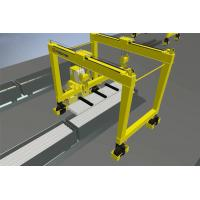 China Rubber Tire Gantry Crane for Steel Pipe Handling  Lifting Capacity: 10+10t; 18+18t (with magnet spreader) on sale