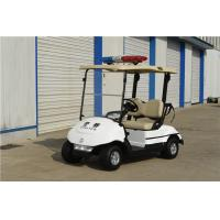 China White Two Seat Golf Carts Police Electric Patrol Vehicle For Security Patrol on sale