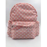 White Dots 190T Polyester Kids School Backpacks Waterproof Lightweight Manufactures