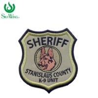 Durable Security Officer Patches For Jackets , Embroidered Hat Patches