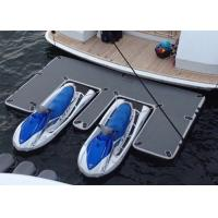Waterproof Inflatable Yacht Slides With Personalized Logo Grey / Blue Color Manufactures