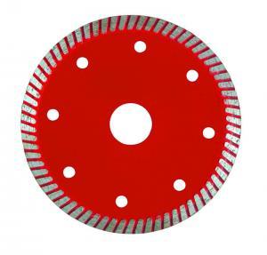 Super Thin Turbo Diamond Saw Blade , Diamond Cutting Blades For Tiles Manufactures