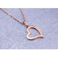China Beautiful Stainless Steel Pendant Necklace Heart Shape For Lovers Engagement on sale