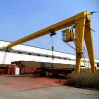 Portal Semi Gantry Crane Safety Outdoor Wire Rope Lifting High Performance