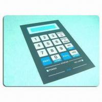 PET Membrane Keypad Stickers, Made of ET and PC Material Manufactures