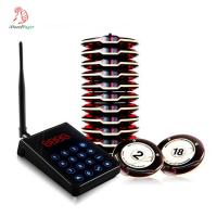 Hot sale easy operation wireless coaster pager system 1 transmitter with 10 wireless small buzzer