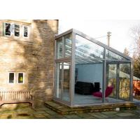 Popular White Powder Coated Aluminium Greenhouses For Residential ISO 9001