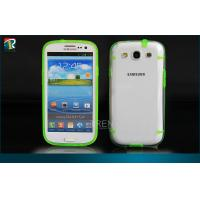 Durable PC  TPU Samsung Galaxy Protective Cases for Samsung Galaxy S3 I9300 with Dust Pulgs Manufactures