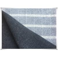 "80 Wool 20 Nylon Big Tartan Double Faced Wool Coating Fabric , Width 150cm / 59"" Manufactures"