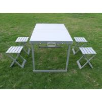 Weather - resistant Aluminum Folding Camping Picnic Table & Chairs 4 Legs For Party Manufactures