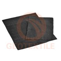 China Engineered Woven Geotextile Stabilization Fabric High Tensile Black Color on sale