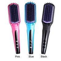 China Electric PTC fast heat up hair care magic smooth hair straightener brush on sale