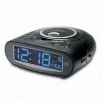 CD Clock Radio with 9-digit LCD Display and 20 Tracks Programmable Memory Manufactures