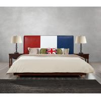 Quality Leather Upholstered Headboard Custom Bed in hotel Guestroom king and queen size bedroom Wooden bed in High quality for sale