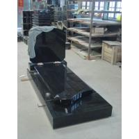 Belgium Style Granite Memorial Headstones , Black Granite Gravestones Customized Manufactures