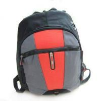 Comfortable  600D polyester water-proof grey with red Overnight Travel Bags / luggage bag Manufactures
