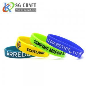 China Factory Supply Rubber Wrist Band Men Bracelet Custom Silicon Wristband on sale