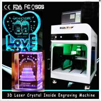 China 3D Crystal Laser Inner Engraving Machine 2000HZ speed 120,000 dots / Minute on sale